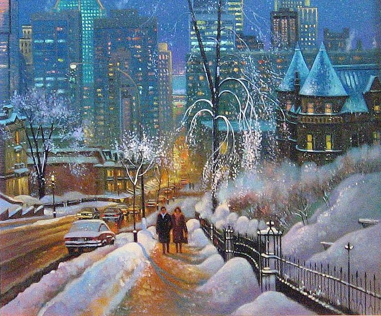 доме вечерний зимний город картинки нарисовать купить вентиляционные решетки